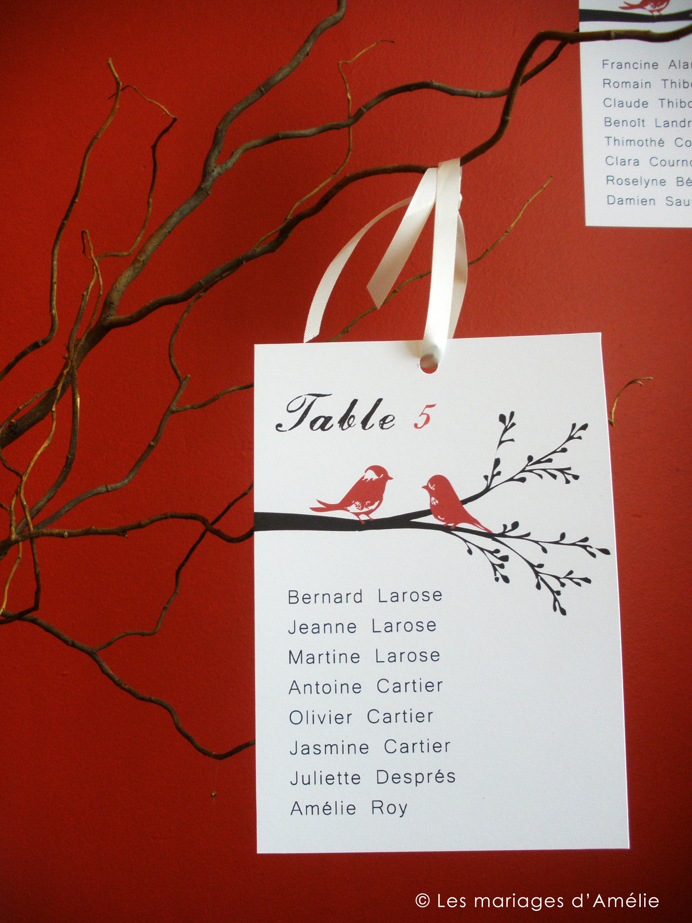 Des branches pour le plan de tables - Exemple plan de table mariage ...