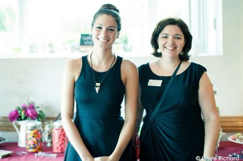 L'équipe de coordination : Vanessa (assistante) et Amélie (coordonnatrice de mariages).